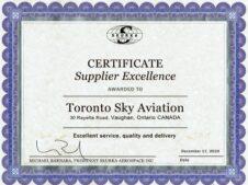 Certificate of excellence Skurka TSA